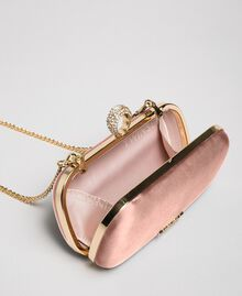 Satin clutch Dark Soft Pink Woman 192TQ706A-05