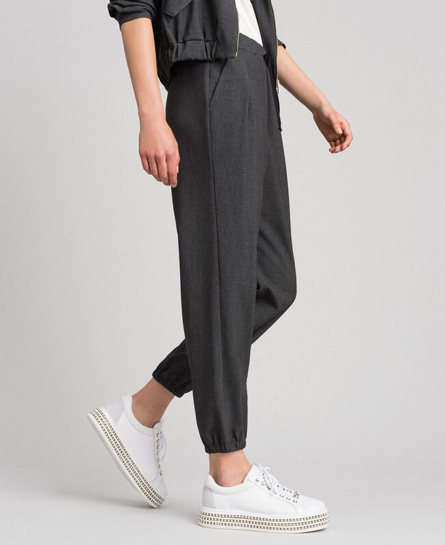 Jogging trousers Dark Gray Mélange Woman 192LI2SDD-03