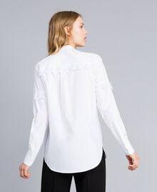 Hemd aus Baumwollpopeline Weiß Frau TA82XP-03