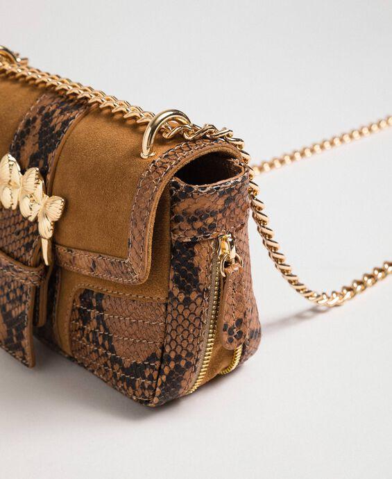 Petit sac Rebel à bandoulière en cuir et cuir velours