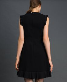 Pleated detail dress Black Woman 192TT2061-03