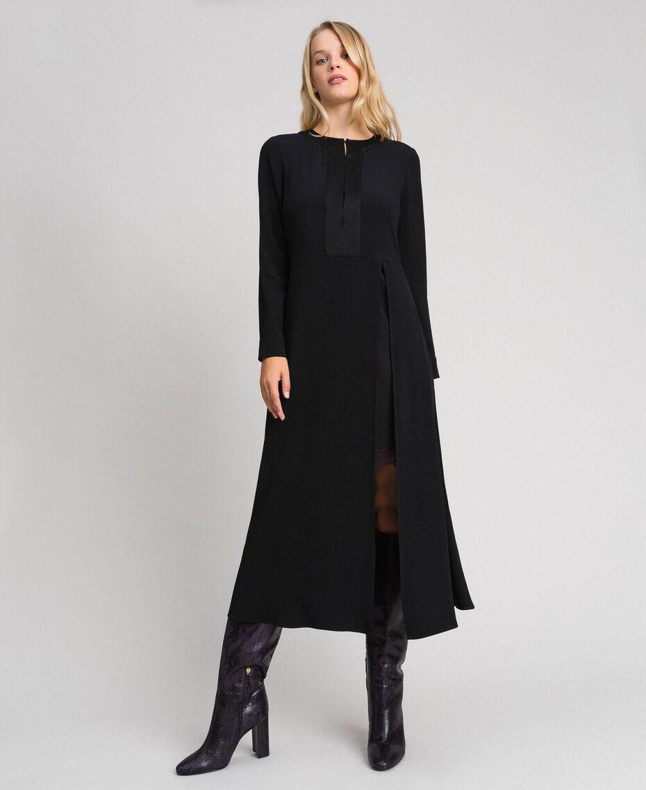 Robe mi-longue avec fond de robe Noir Femme 192TT229C-02