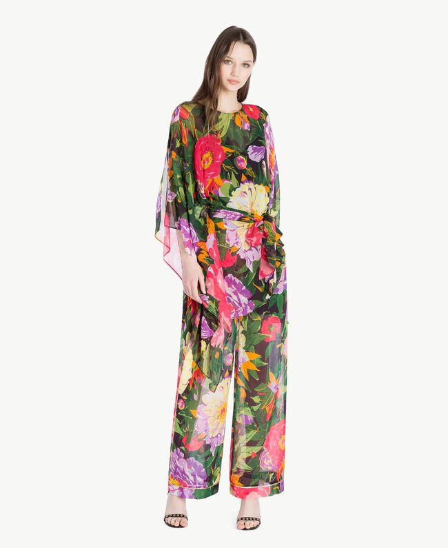 "Kaftan mit Blumenprint ""Summer Garden""-Print Frau TS824Q-01"
