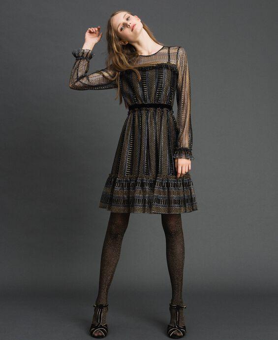Vestido de encaje con lúrex