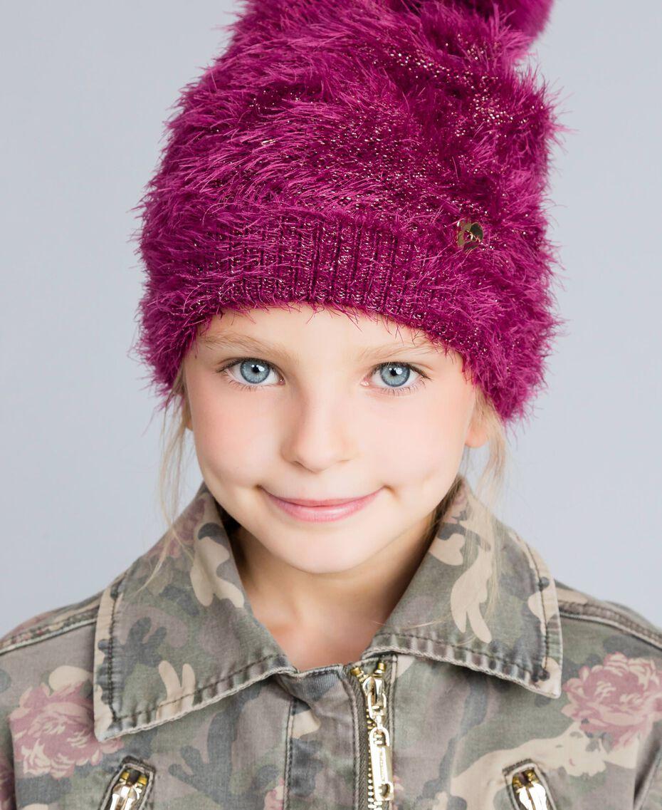 Bonnet effet fourrure Violet Raisin Doux Enfant GA8HAP-0S
