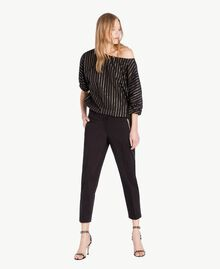 Satin trousers Black Woman TS826B-05