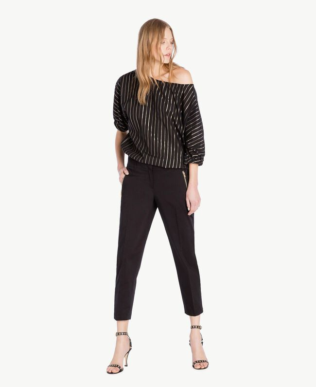 Satin trousers Black Woman TS826B-05