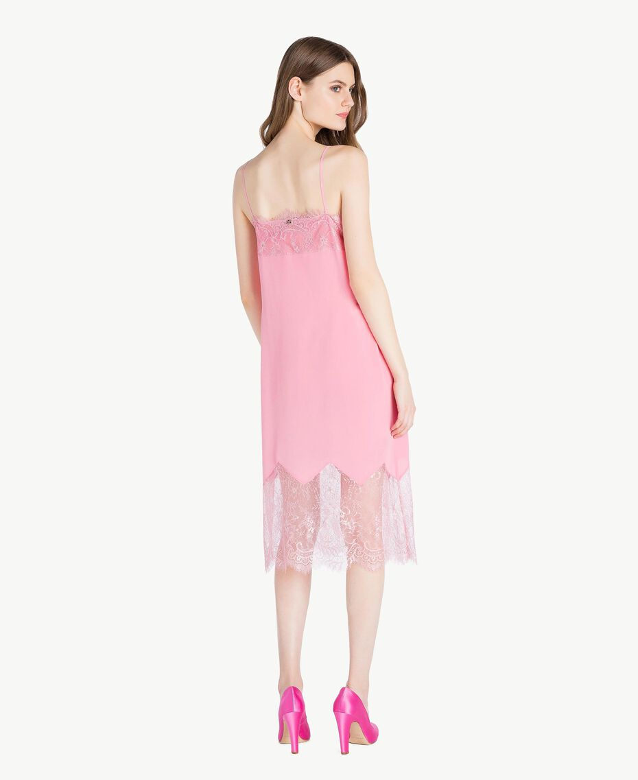 "Silk dress Two-tone ""Doll"" Pink / ""Hydrangea"" Pink Woman PS82WA-03"