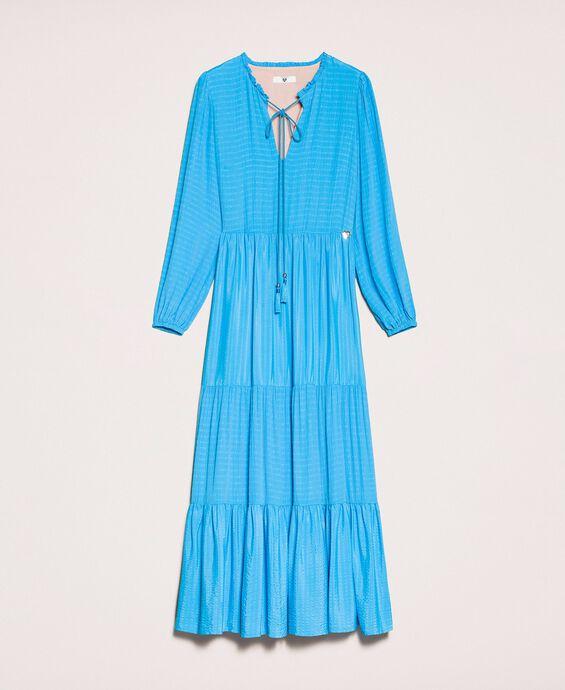 Ruffles and flounce long dress