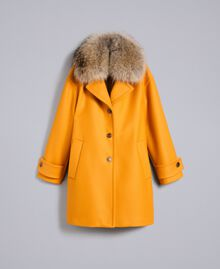 Manteau oversize en drap avec col Brandy Femme PA826N-0S