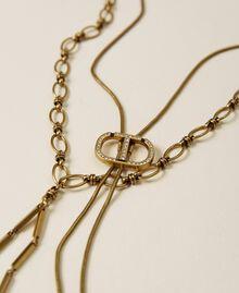 Chocker avec logo et collier avec croix Or «Laiton Vieilli Cuivré» Femme 212TA401C-02