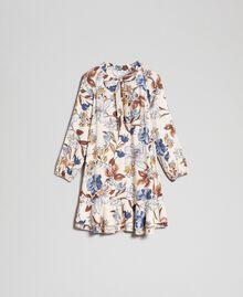 Floral print dress Cream Autumn Flower Print Woman 192ST2220-0S