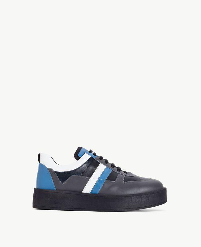 """TWINSET Sneaker color block Grigio / Azzurro """"Anice"""" CA7TJ5-01"""