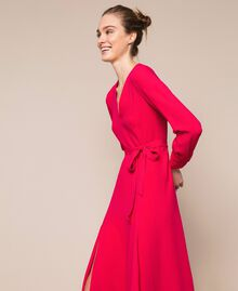 Long dress with slits Black Cherry Woman 201TP2433-01
