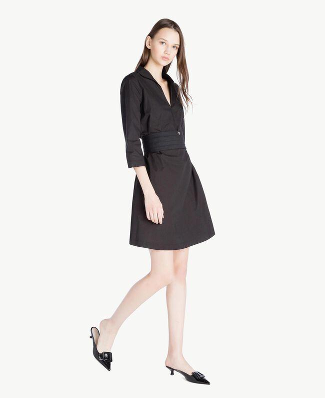 TWINSET Pantolette aus Lackleder Schwarz Frau CS8PAN-05