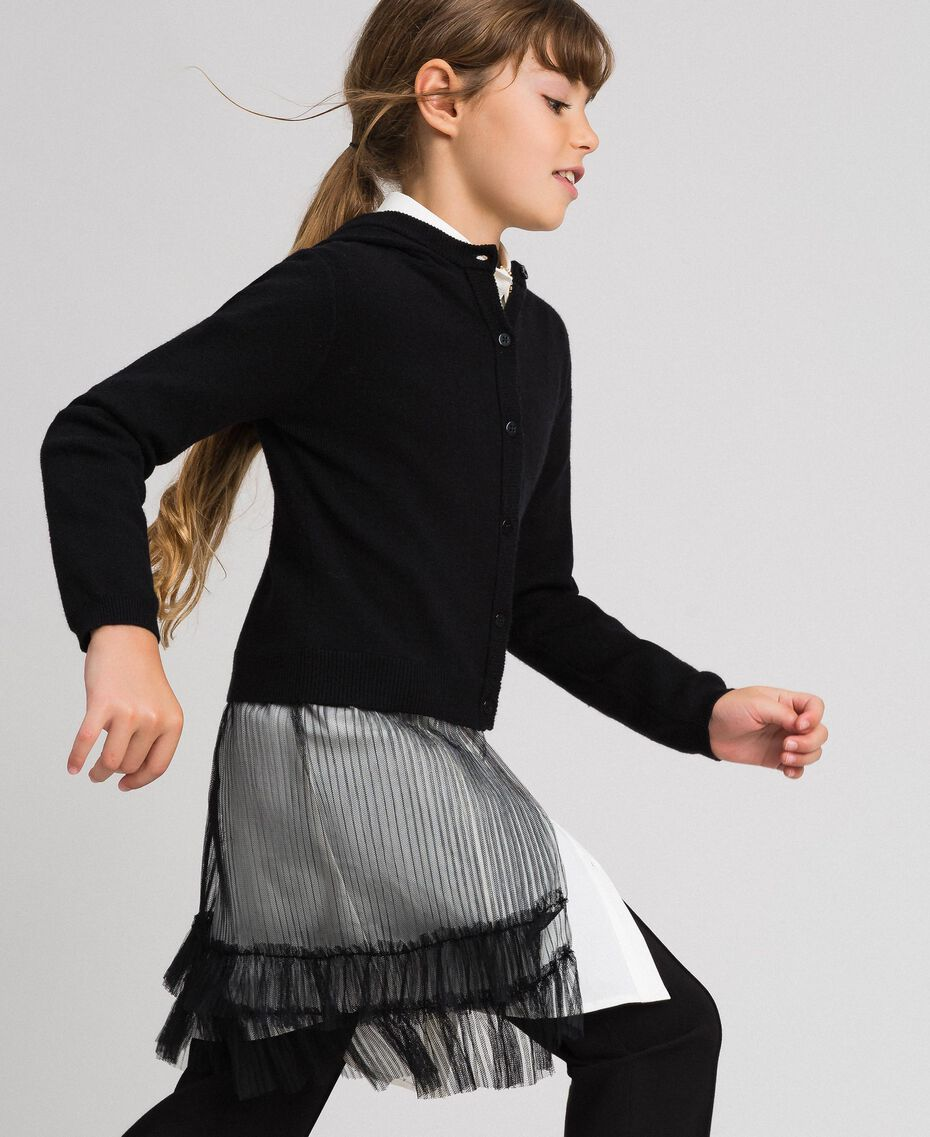 Cardigan with tulle inlay Black Child 192GJ3111-02