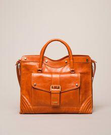 """Кожаная сумка-шоппер Rebel с карманом Красный """"Яшма"""" женщина 999TA7235-02"""