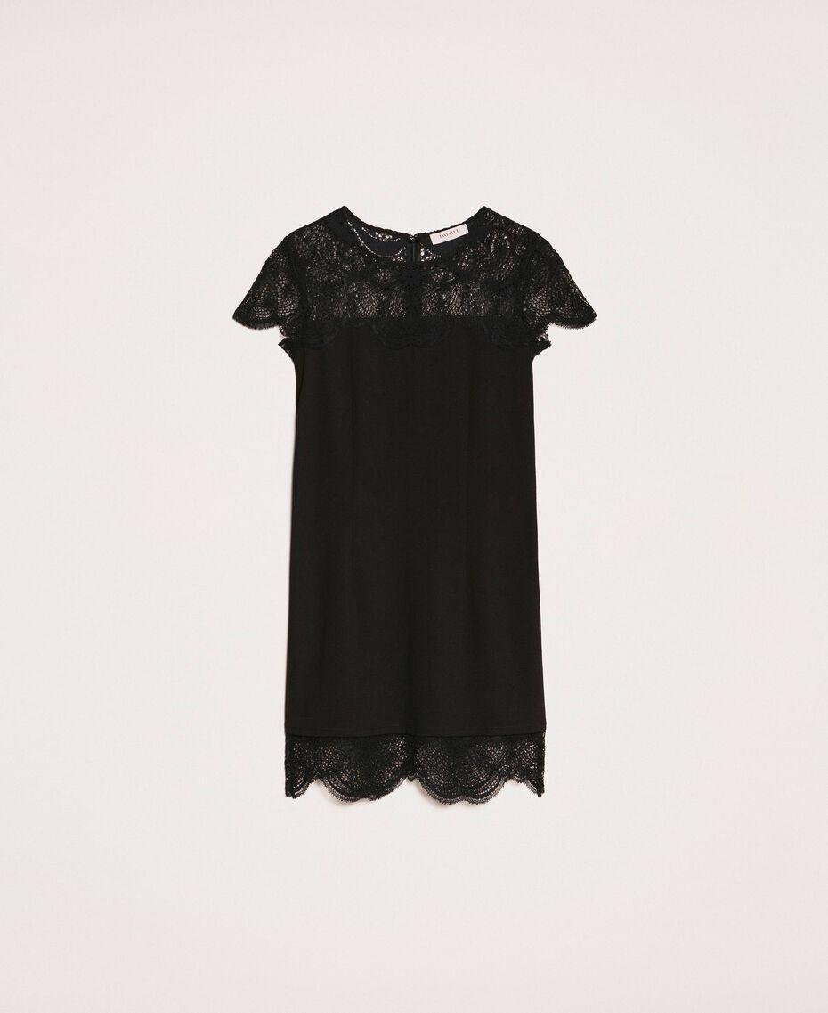 Robe fourreau avec dentelle Noir Femme 201TP212A-0S