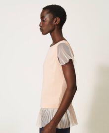 T-shirt avec volant plissé Noir Femme 202MP2391-02