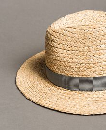 "Straw hat with ribbon ""Marzipan"" Beige Woman 191TO5391-02"