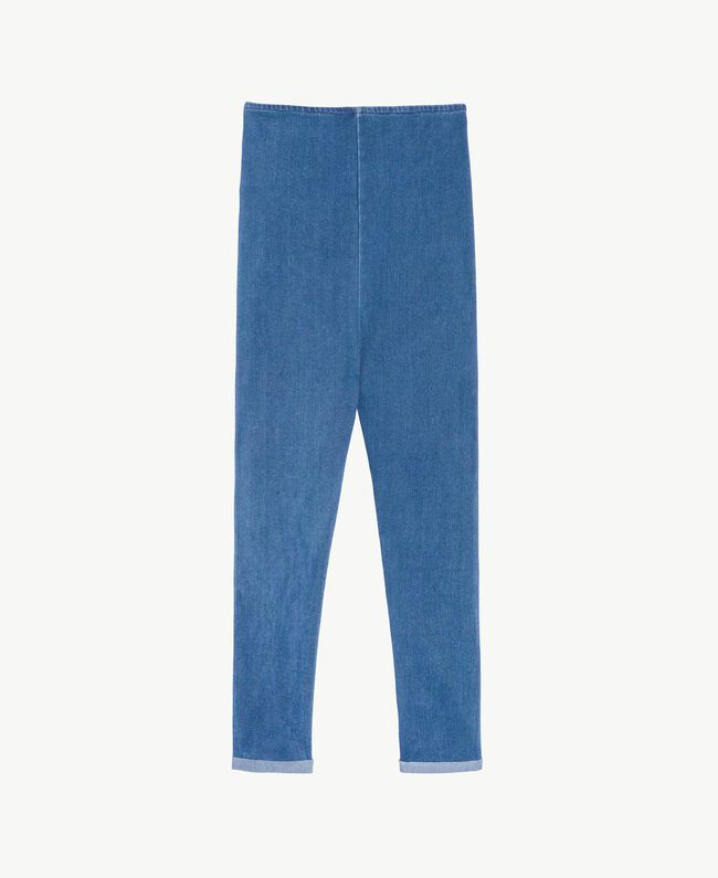 "Leggings jersey Blu ""Denim Medio"" Bambina GS82GR-01"