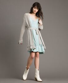 Silk blend and lace dress Acquamarine Woman 191TP2741-0T