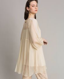 Crepon and georgette dress Ecrù Woman 191ST2207-03