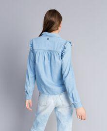 Camisa vaquera con volantes Denim Azul Mujer JA82U4-03
