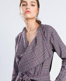 """Scottish flannel dressing gown """"Reddish"""" Red Tartan Print Woman LA8NEE-04"""