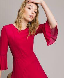 """Robe longue de georgette Fuchsia """"Anémone"""" Femme 191TP2123-05"""