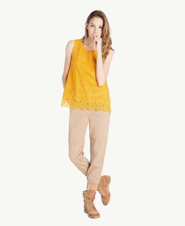 Lace top Mineral Yellow Woman SS82LB-05