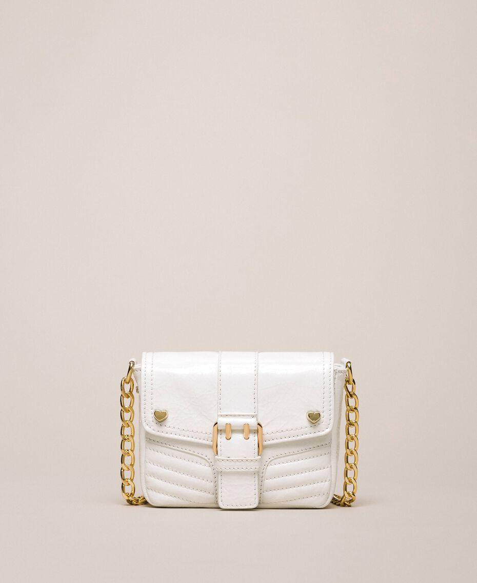 Petit sac à bandoulière Rebel en cuir Blanc Neige Femme 201TO823T-01