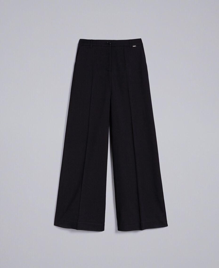 Twill palazzo trousers Black Woman SA82KE-0S