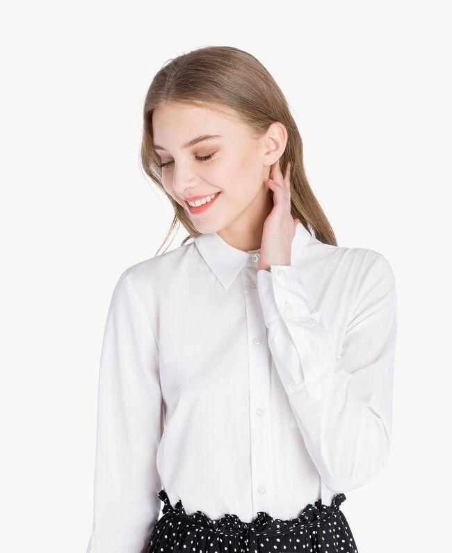 Robe chemisier Bicolore Blanc Optique / Pois Noir Femme PS82L1-04