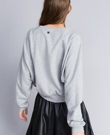 Sweat en coton Gris clair chiné Femme JA82FB-03