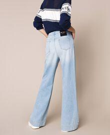 Wide leg jeans with five pockets Denim Blue Woman 201MP2281-03