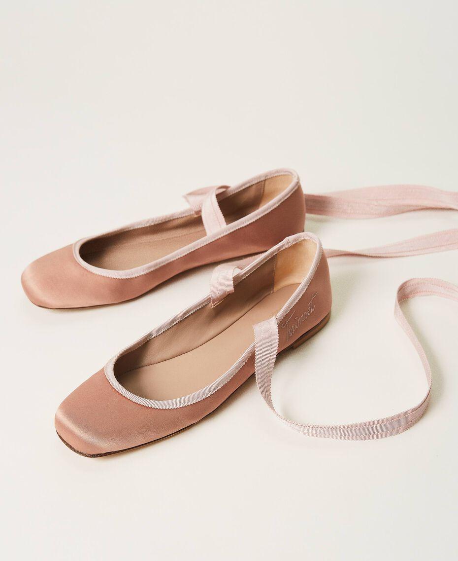 Атласные балетки Персик женщина 202TCP200-02