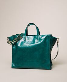 Leather shopper with logo Python Woman 201TA7090-04