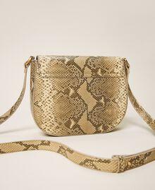 Umhängetasche aus Leder mit exotischer Prägung Pythonprägung Pastel Skin Frau 202TD8050-04