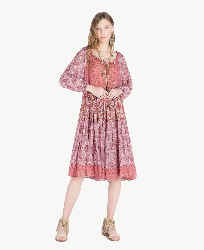 Robe imprimée Imprimé Mélangé Cachemire Femme TS82XB-01