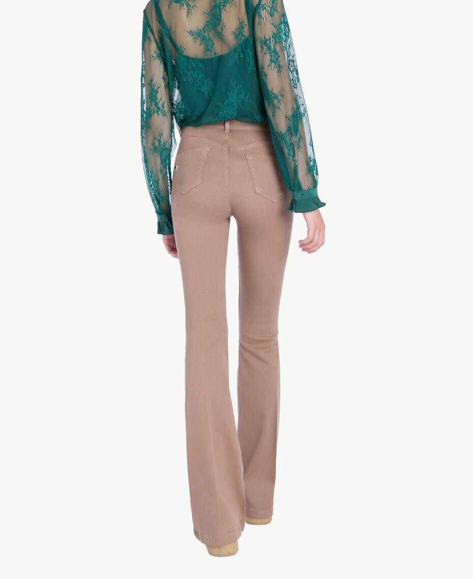 """Bell bottom trousers """"Safari"""" Beige Female JA72T2-03"""