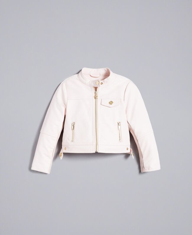 "Faux leather jacket ""Blush"" Pink Child FA82BA-01"