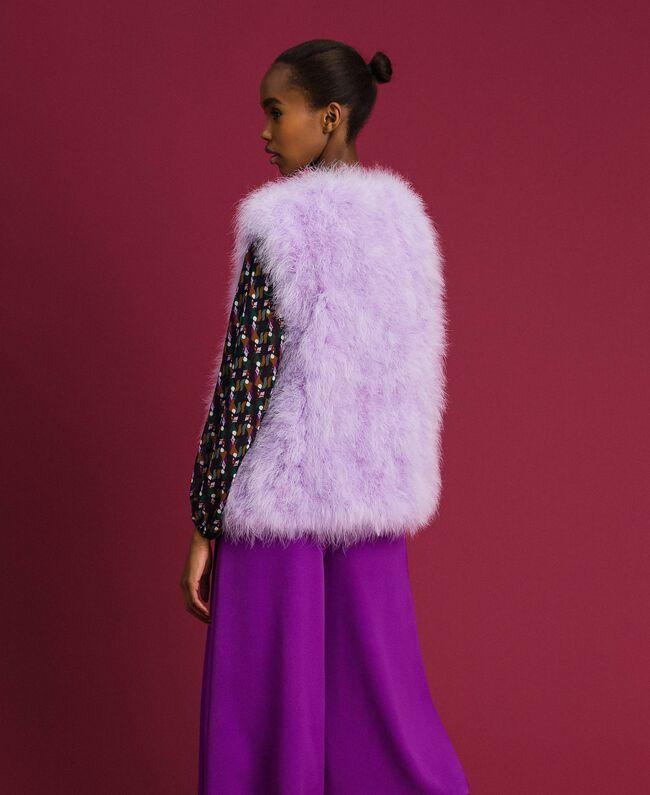 Gilet en plumes Violet «Glycine» Femme 192ST4790-03