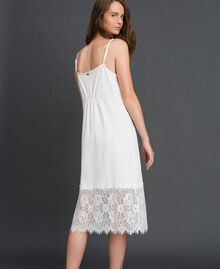 Robe nuisette avec dentelle Blanc Femme 192ST2195-03