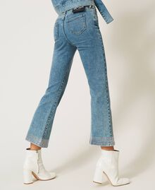 Flared jeans with studs Light Denim Woman 202MP2191-04