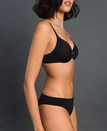 underwired bra (D cup) Black Woman LCNN5D-01