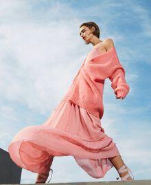 Cardigan oversize en mohair mélangé Rose «Pêche Blossom» Femme 202TP3271-01
