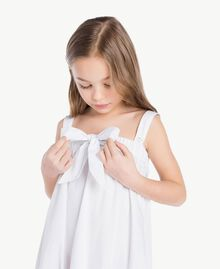 "Robe popeline Blanc ""Papers"" Enfant GS82QN-05"