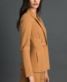Double breasted slim fit jacket Irish Cream Hazelnut Woman 192MP2170-02