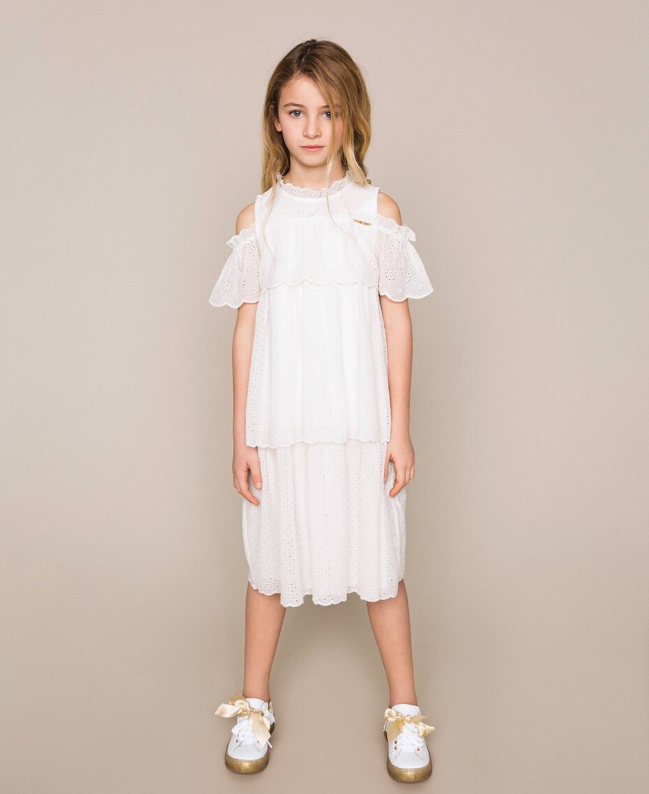 Broderie anglaise dress Off White Child 201GJ2QB0-01